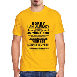 Sorry I Am Already Taken By A Awesome Girl Men's  T-shirt