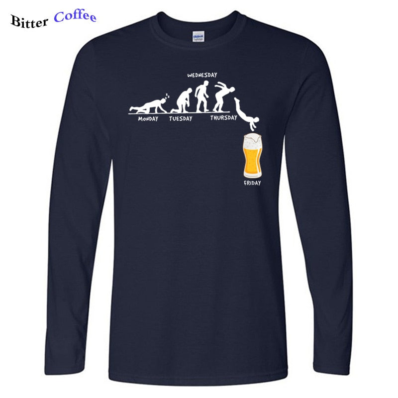 Man Week Craft Beer T Shirts 100% Cotton