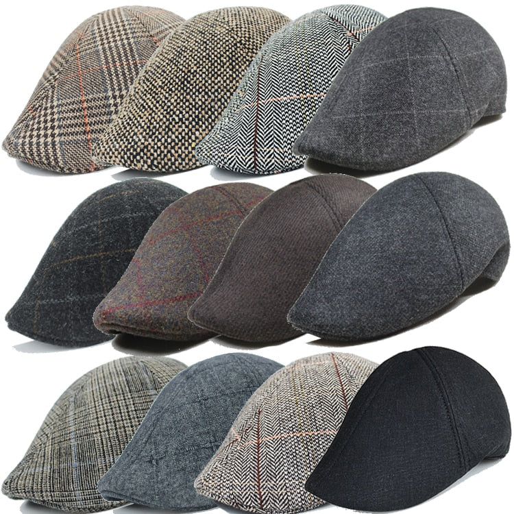 Lots Style Men Berets Casual Street Newsboy Beret Hat