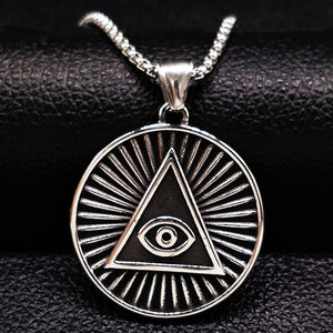 Men Jewelry Eye Of Evil Long Necklace Silver Color Jewellery Gift