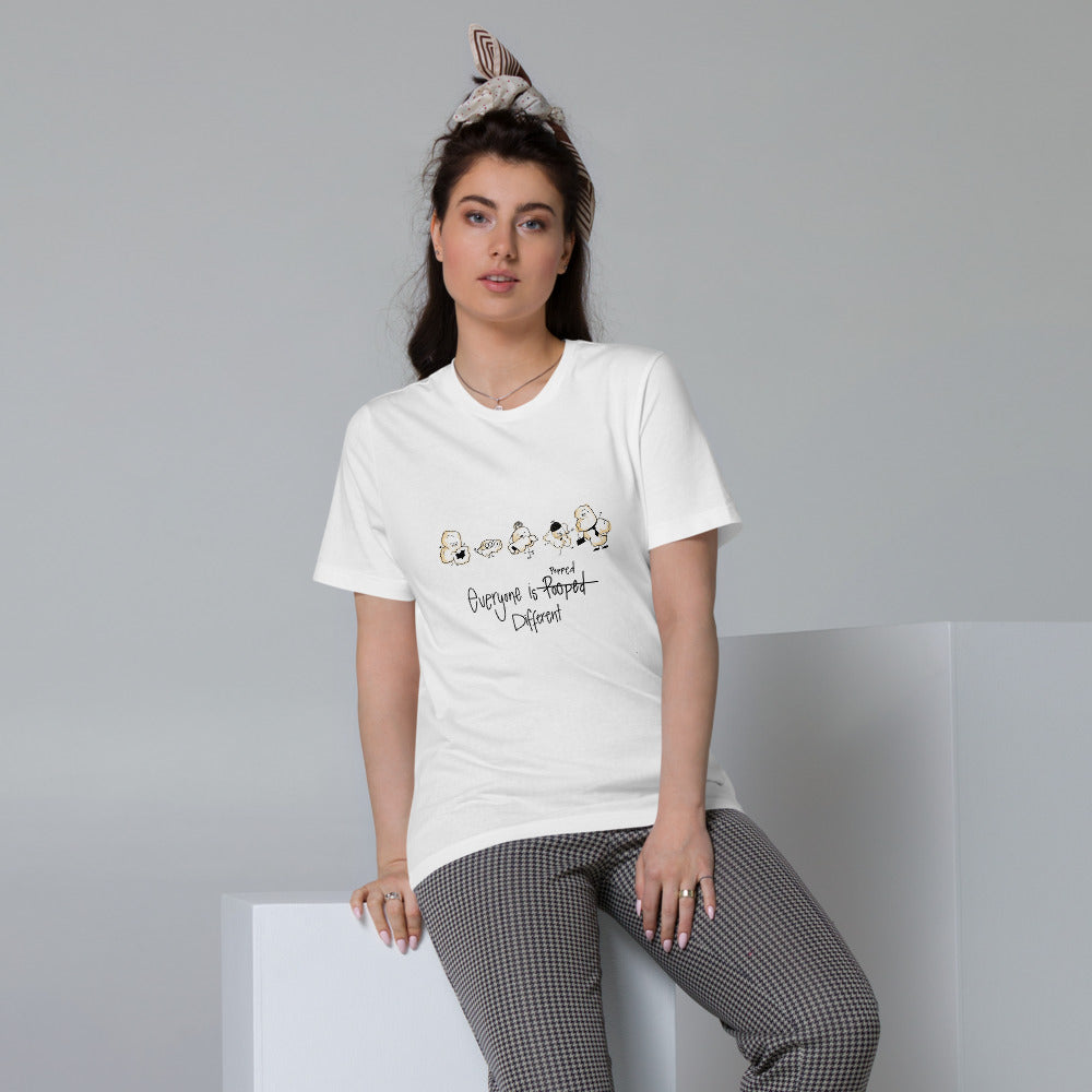 Everyone is popped different - Women's Organic Cotton T-Shirt