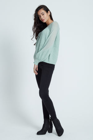 Liquorish Heart Green Jumper