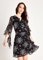 Liquorish Star Print Wrap Dress