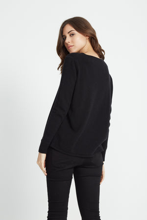 Liquorish Pineapple Black Jumper