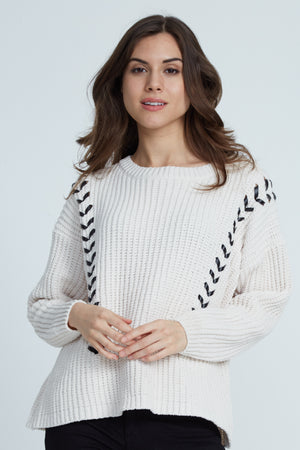 Liquorish White Jumper