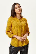 Polka Dot Shirt in Mustard