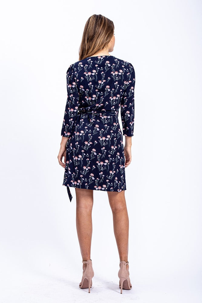 Rock Kandy Mini Wrap Dress In Floral Print