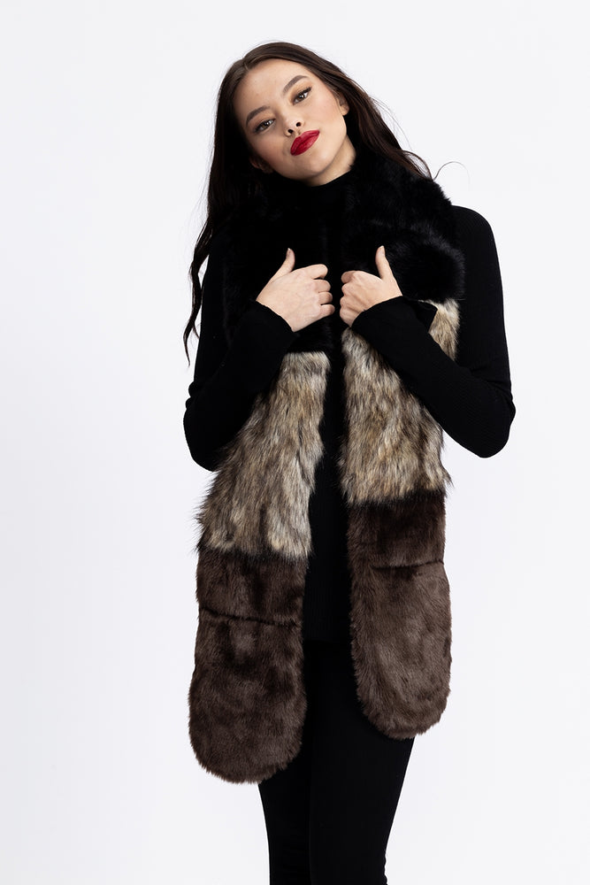 Liquorish Faux Fur Stole