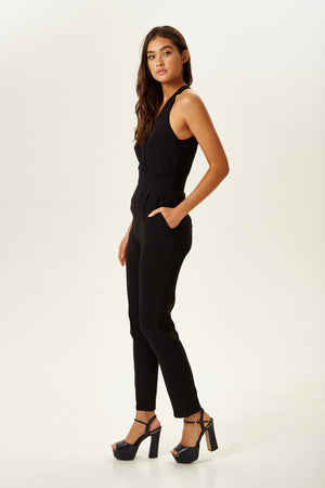 Divine Grace Straight Leg Jumpsuit in Black