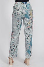 Liquorish Wide Leg Trousers in Bird Print Co-Ord