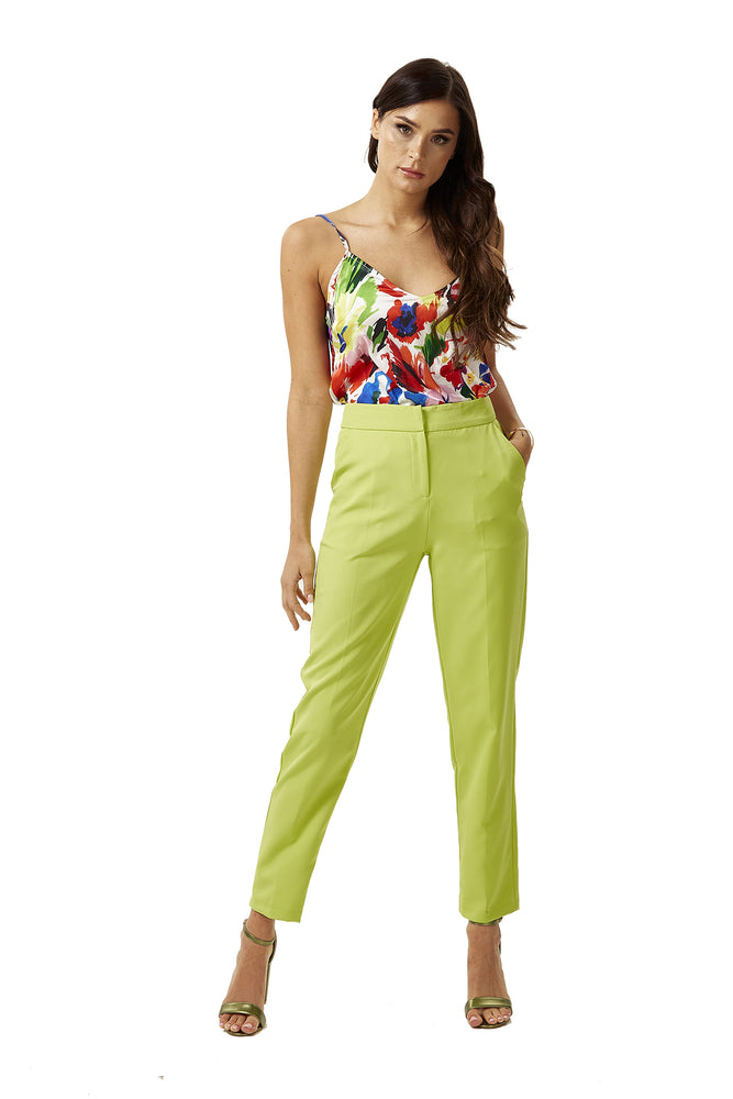 Liquorish Fluo Green Trousers