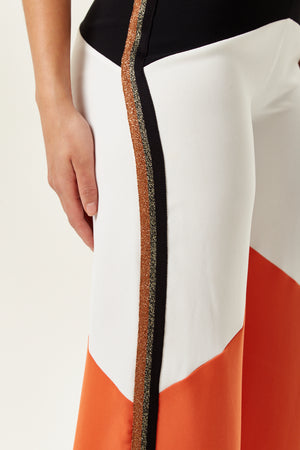 Divine Grace Wide Leg Colour Block Trousers