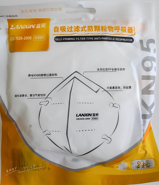 Lanxin KN95 Self-Priming Filter Type Face mask Anti-Particle Respirator (2Pcs) - Face Mask - Lanxin Prohair