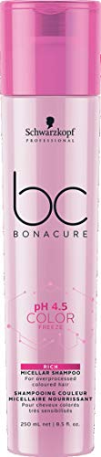 Schwarzkopf Bc Bonacure Ph 4.5 Color Freeze Rich Micellar Shampoo (for overprocessed coloured Hair), 8.5 ounces