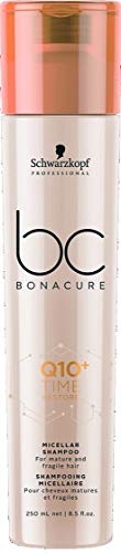 Schwarzkopf Bc Bonacure Q10+ Time Restore Micellar Shampoo (for Mature and Fragile Hair), 8.5 ounces