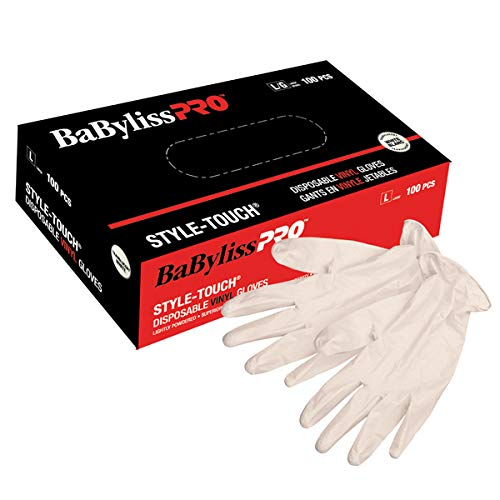 BaBylissPRO Disposable Vinyl Gloves- Small, 100 - luxury-beauty - Prohair