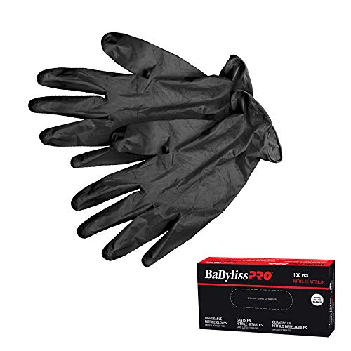 BaBylissPRO Disposable Nitrile Gloves- Large, 100 - Gloves - Prohair