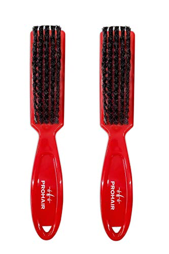 Prohair Fade & Blade/Clipper Cleaning Red Brushes - (2 Pcs/Set) - Beauty - Prohair Prohair