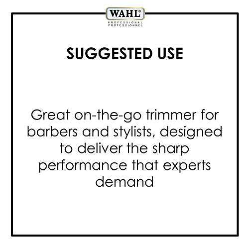 Wahl Professional White Peanut Clipper/Trimmer #56155 - Great for Professional Stylists and Barbers