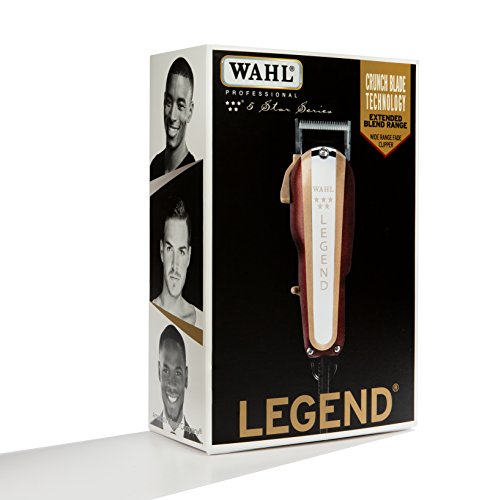 Wahl Professional New Look 5-Star Legend Clipper #8147 - The Ultimate Wide-Range Fading Clipper with Crunch Blade Technology - Includes 8 Attachment Combs - Beauty - Prohair