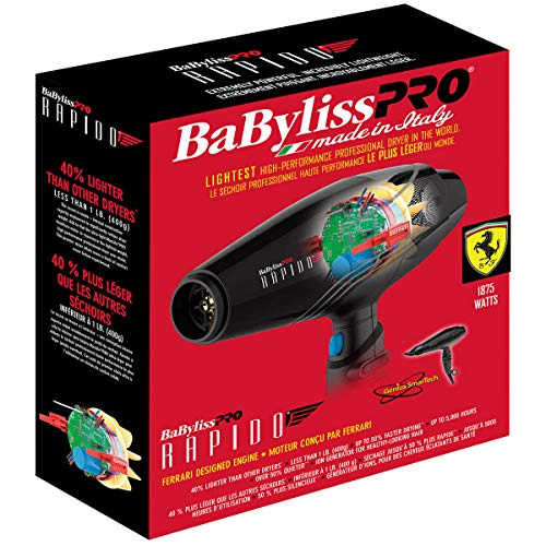 BaBylissPRO High Performance Rapido Hairdryer - Hair Dryer - Prohair