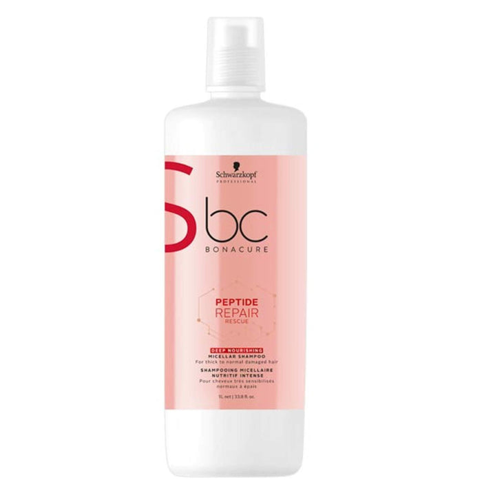 Schwarzkopf - Bc Bonacure - Peptide Repair Rescue Conditioner (for Damaged Hair) - Beauty - 1L - Prohair