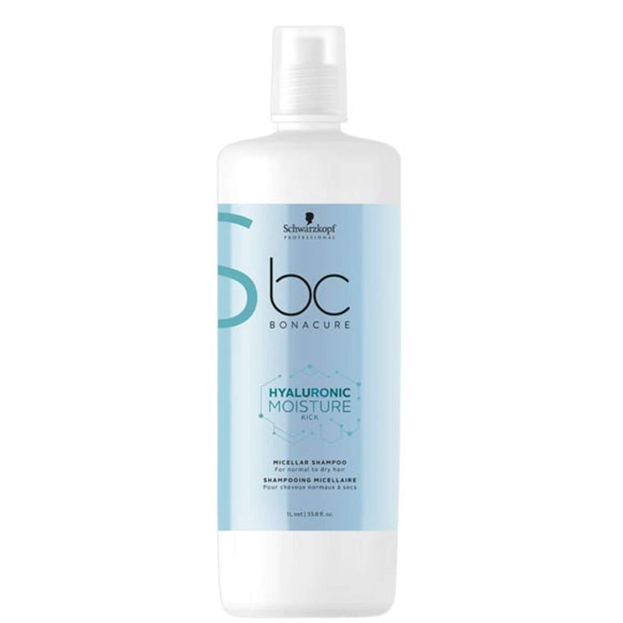 Schwarzkopf - Bc Bonacure - Hyaluronic Moisture Kick Micellar Shampoo (for Normal To Dry Hair) - Shampoo - 1L - Prohair