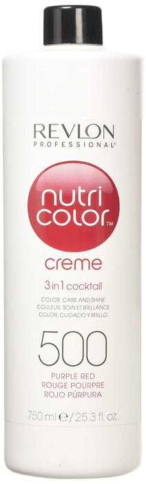 Revlon Professional - Nutri Color Creme - Hair Color - 500 - Puple Red / 750ml - Prohair