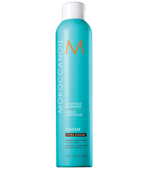 An extra strong, finishing hairspray that provides long, lasting hold while infusing hair with shine and fighting frizz. Brushes out without flaking and does not leave a sticky residue.  How to Use Hold can 10 inches from head and spray on dry, styled hair.  Benefits  Provides movable yet firm hold for updos and braids Fights frizz, repels humidity Leaves no flaky residue Imparts a beautiful shine Non-sticky, brushable formula