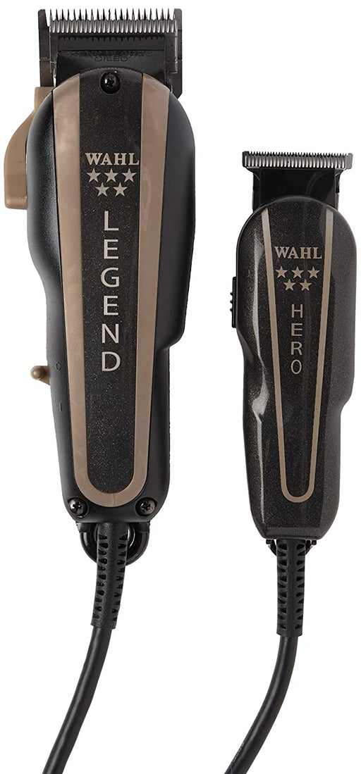 Wahl Professional 5-Star Barber Combo #56272 - Legend Clipper and Hero T-Blade Trimmer - Luxury Beauty - Prohair