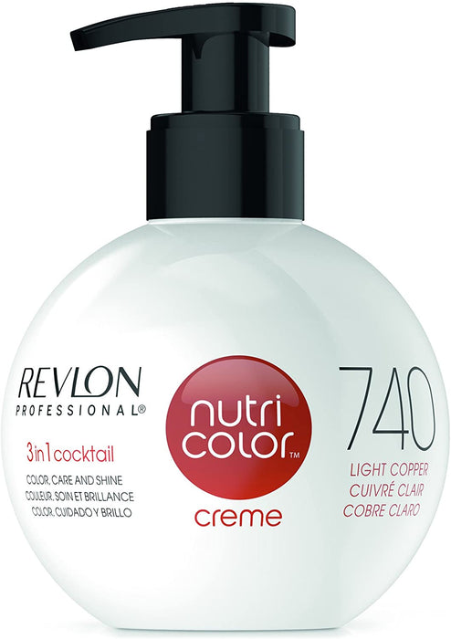 Revlon Professional - Nutri Color Creme - Hair Color - 740 - Light Copper / 270ml - Prohair