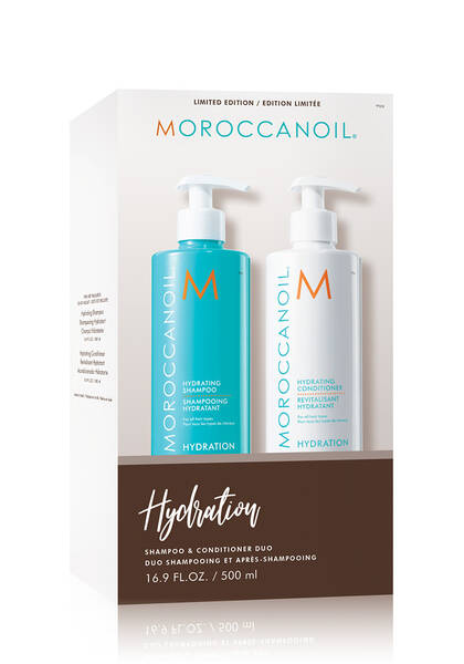 Moroccanoil - Hydrating Shampoo & Conditioner Set with Pump 16.9 0z - Shampoo set - Prohair