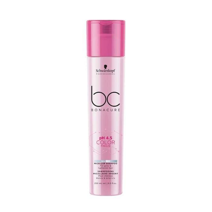 Schwarzkopf - Bc Bonacure - pH 4.5 Color Freeze Silver Micellar Shampoo - Shampoo set - 250ml - Prohair