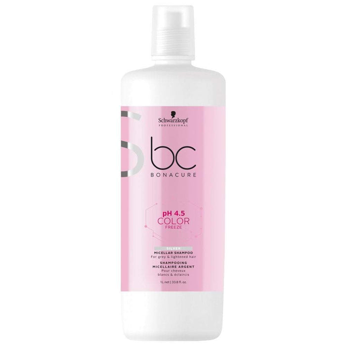 Schwarzkopf - Bc Bonacure - pH 4.5 Color Freeze Silver Micellar Shampoo - Shampoo set - 1L - Prohair