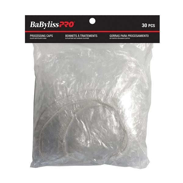 BabylissPro - Cut & Colour Accessories - Clear Plastic Caps |30/Bag| - Plastic Cap - BabylissPro Prohair