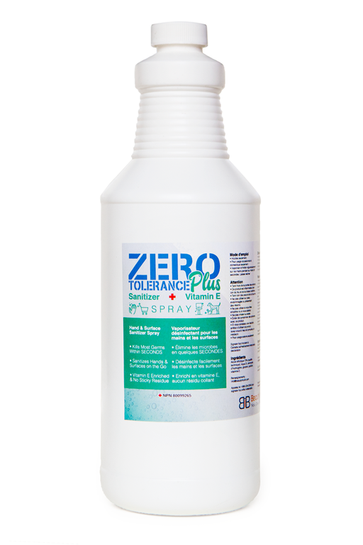 Zero Tolerance Plus Hand/Surface Sanitizing Spray with Vitamin E - Cleaning Spray - 1L - Prohair