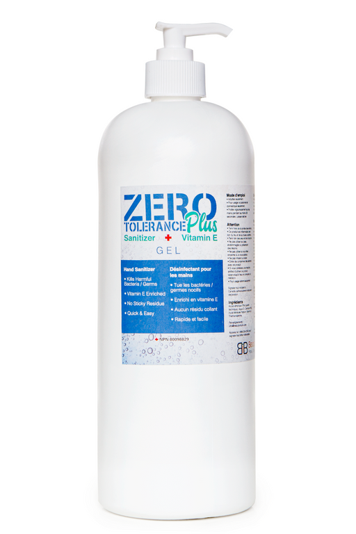 Zero Tolerance Plus Premium Hand and Body Sanitizer Gel with Vitamin E - Cleaning Gel - 1L - Prohair