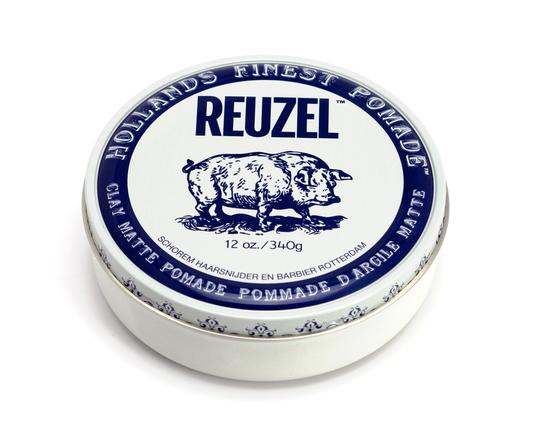 Reuzel - Clay Matte Pomade - Hair Products - 12oz | 340g - Prohair
