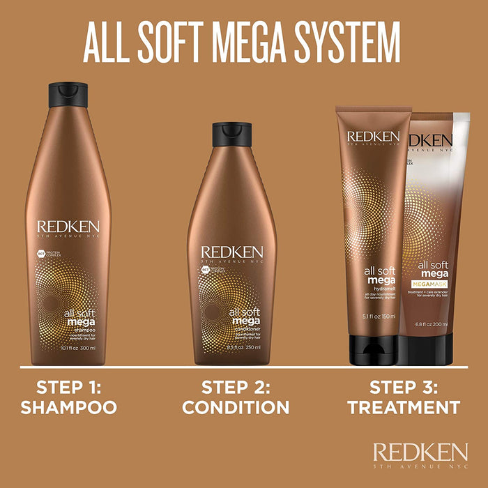 Redken - All Soft Mega - Shampoo and Conditioner Duo - Beauty - Prohair
