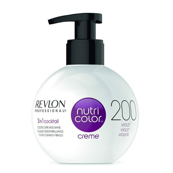 Revlon Professional - Nutri Color Creme - Hair Color - 200 - Violet / 270ml - Prohair