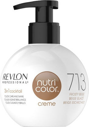 Revlon Professional - Nutri Color Creme - Hair Color - 713 - Frosty Beige / 270ml - Prohair