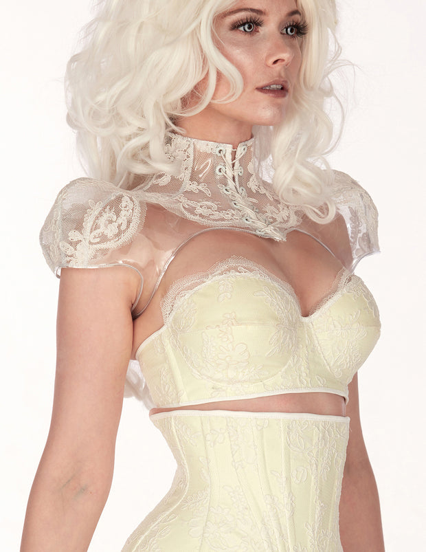 Glow in the dark strapless Lace Bustier