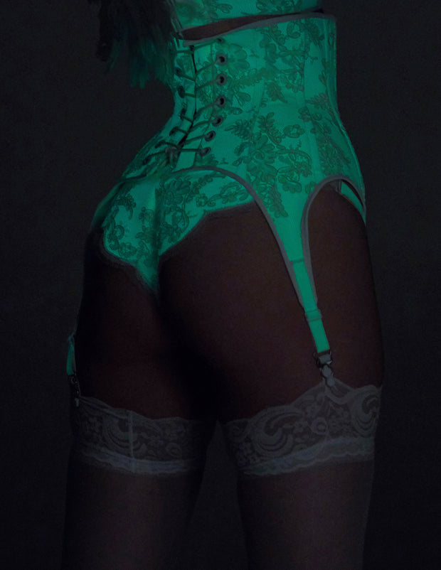 Glow in the dark Lace Garter Corset (4 clip version)