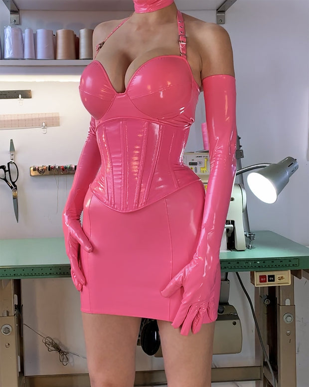 Pushup cup PVC Dress