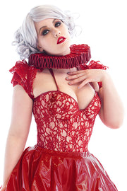 PVC and Lace Padded bust cup Corset