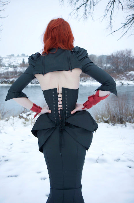 Kinetic zippered overbust corset