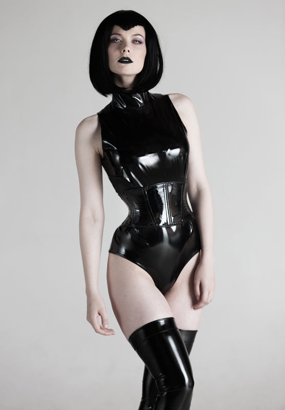 PVC Collar Jumpsuit