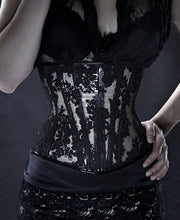 Clear PVC and Lace Underbust Corset