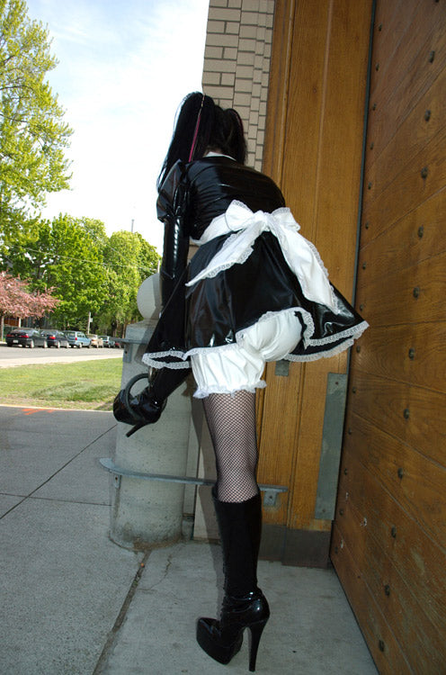 Lace trimmed PVC bloomers