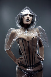 PVC mini hooded Capelet